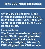 CDU-Mitgliedsbeitrag